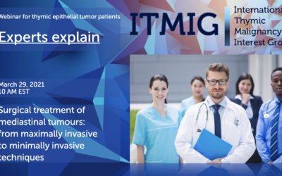 March 26, 2021 10 am CEST – ITMIG Webinar for Thymic epithelial tumour patients –